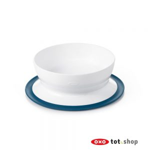 OXO Stick & Stay Kom Met Zuignap Blauw