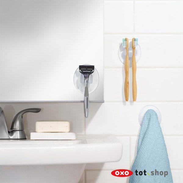 OXO Zuignaphouders voor de badkamer (set van 3)